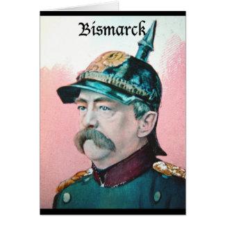 Von Bismarck with caption (public domain) Card