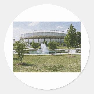 Von Braun Center Pegatina Redonda