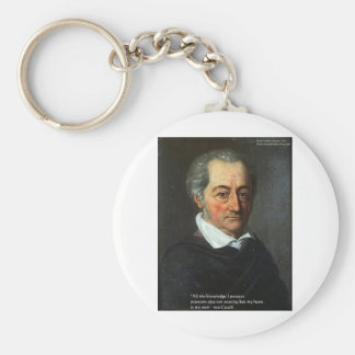 "von Goethe ""Truth"" Quote Gifts Tees & Cards Keychain"
