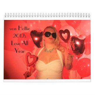 von Hottie 2012: Ame todo el año Calendario De Pared