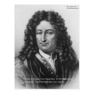 Von Leibniz Happiness de otros regalos y tarjetas Tarjetas Postales