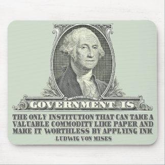 Von Mises en los billetes Tapete De Raton