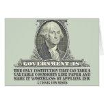 Von Mises en los billetes Tarjeta De Felicitación