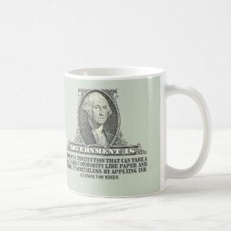 Von Mises en los billetes Tazas De Café