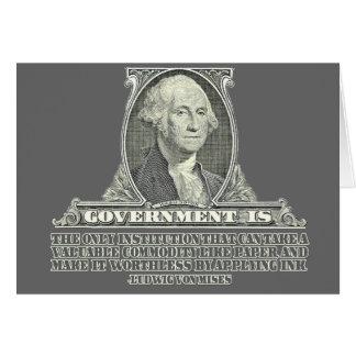 Von Mises on Paper Money Greeting Card
