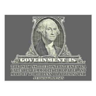 Von Mises on Paper Money Postcard