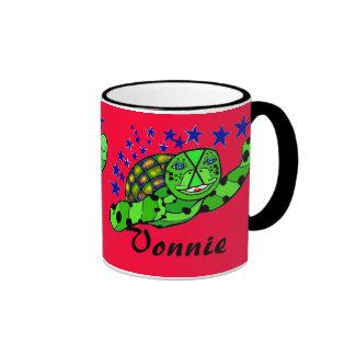 Vonnie la tortuga de mar estupenda altísima taza de dos colores