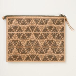 Vonster Triangular Pattern Travel Pouch