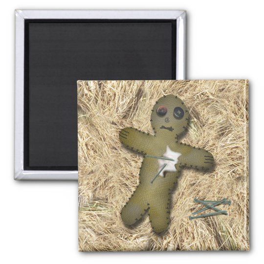 Voo Doo Doll - Interactive (Move the Pins) 2 Inch Square Magnet