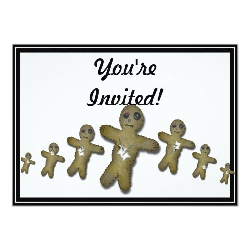 "Voo Doo Doll Row 5"" X 7"" Invitation Card"