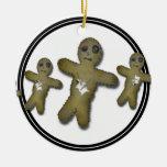 Voo Doo Doll Row Christmas Tree Ornaments