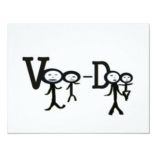 voo Doo Invitación 10,8 X 13,9 Cm