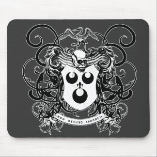 Voodoo Art Black and White Mouse Pad