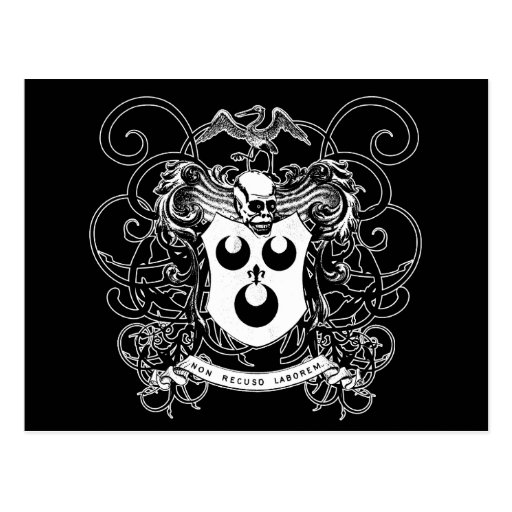 Voodoo Art Black and White Postcard