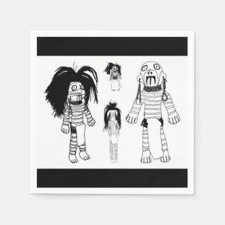 Voodoo Baby Dolls Paper Napkin