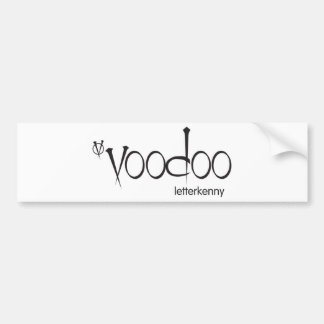 Voodoo branded bumper sticker