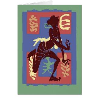 Voodoo Dancer After Matisse card