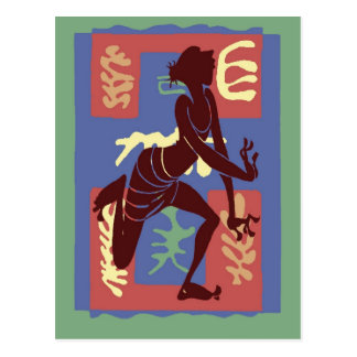 Voodoo Dancer After Matisse Postcard