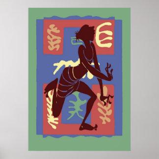 Voodoo Dancer After Matisse Poster