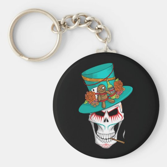 Voodoo Day of the Dead Keychain