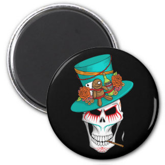 Voodoo Day of the Dead 2 Inch Round Magnet