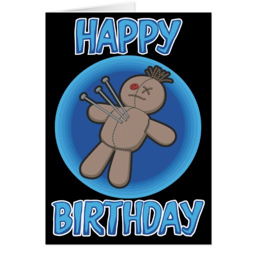 Voodoo Doll Birthday Card
