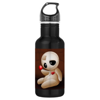 Voodoo Doll Cartoon in Love 18oz Water Bottle