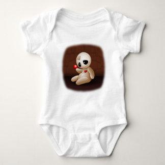Voodoo Doll Cartoon in Love Baby Bodysuit