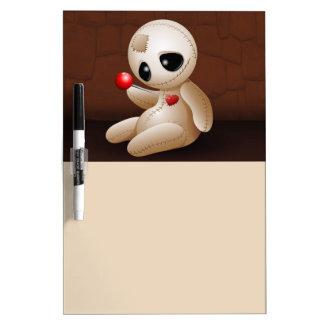Voodoo Doll Cartoon in Love Dry-Erase Board