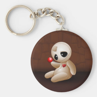 Voodoo Doll Cartoon in Love Keychain