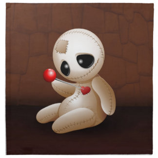 Voodoo Doll Cartoon in Love Napkin