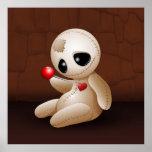 Voodoo Doll Cartoon in Love posters