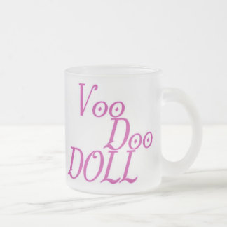Voodoo Doll Frosted Glass Coffee Mug