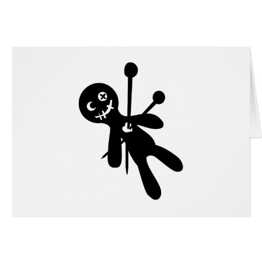 Voodoo doll greeting cards