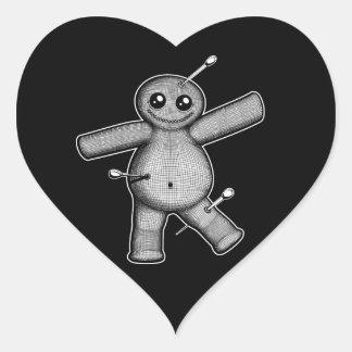 Voodoo Doll Heart Sticker