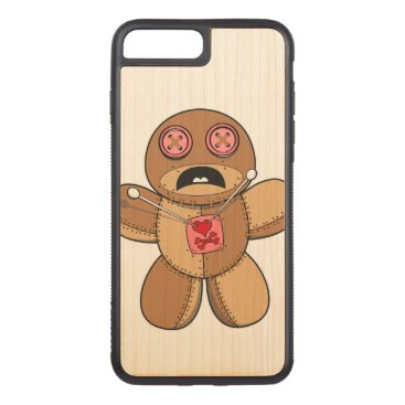 Halloween Themed Voodoo Doll Illustration Carved iPhone 7 Plus Case