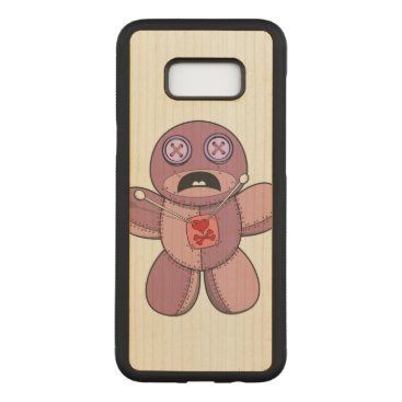 Halloween Themed Voodoo Doll Illustration Carved Samsung Galaxy S8  Case