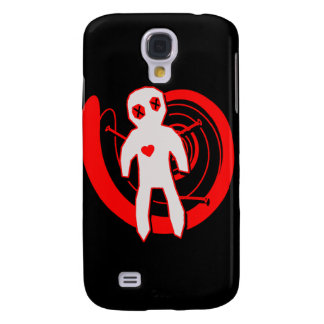 Voodoo Doll in Black and Red Samsung Galaxy S4 Covers