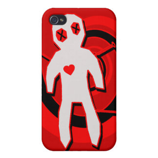 Voodoo Doll in Black and Red iPhone 4 Covers