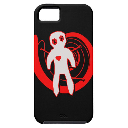 Voodoo Doll in Black and Red iPhone SE/5/5s Case