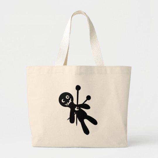 Voodoo doll large tote bag