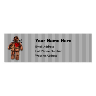 VooDoo Doll Skinny Profile Card Business Cards
