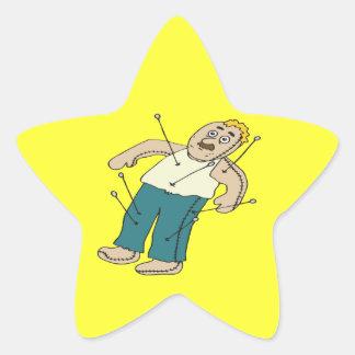 Voodoo Doll Star Sticker