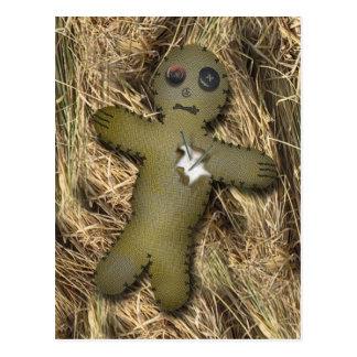 Voodoo Doll /straw PostCard