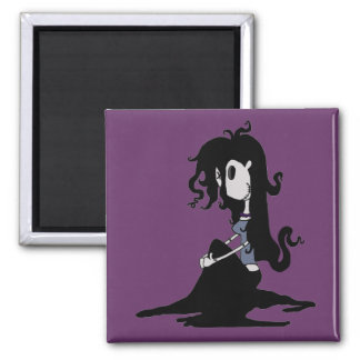 """VooDoo Dollies """"Mercy Bedlam"""" 2 Inch Square Magnet"""
