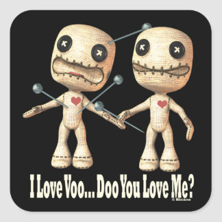 VooDoo Dolls Square Stickers