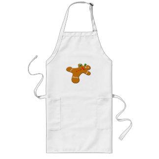 Voodoo Gingerbread Man Christmas Humor Long Apron