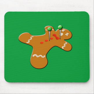 Voodoo Gingerbread Man Christmas Humor Mouse Pad