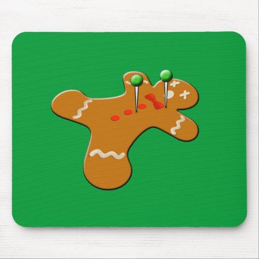 Voodoo Gingerbread Man Christmas Humor Mousepads