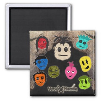 Voodoo Heads ~ Cave 2 Inch Square Magnet